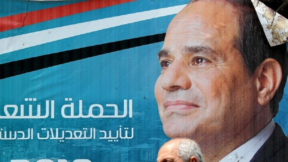 لافتات تأييد التعديلات الدستورية في مصر