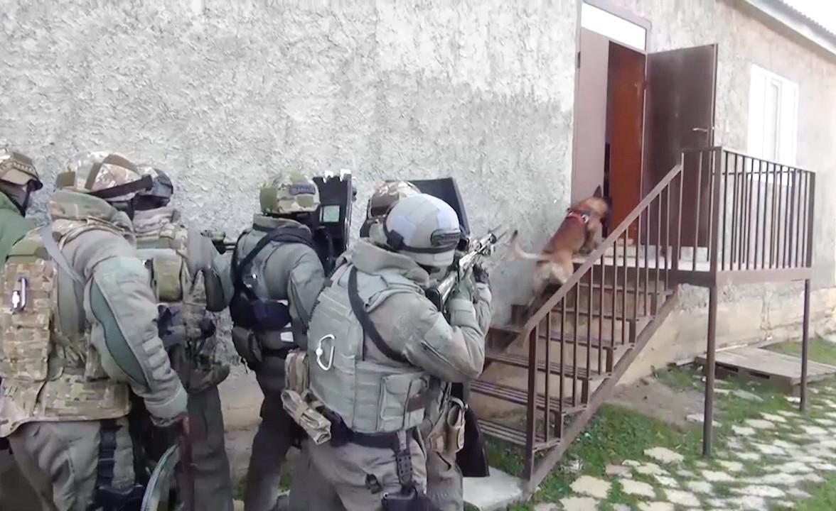 عناصر من مصلحة الأمن الفدرالية الروسية في جمهورية داغستان (أرشيف)