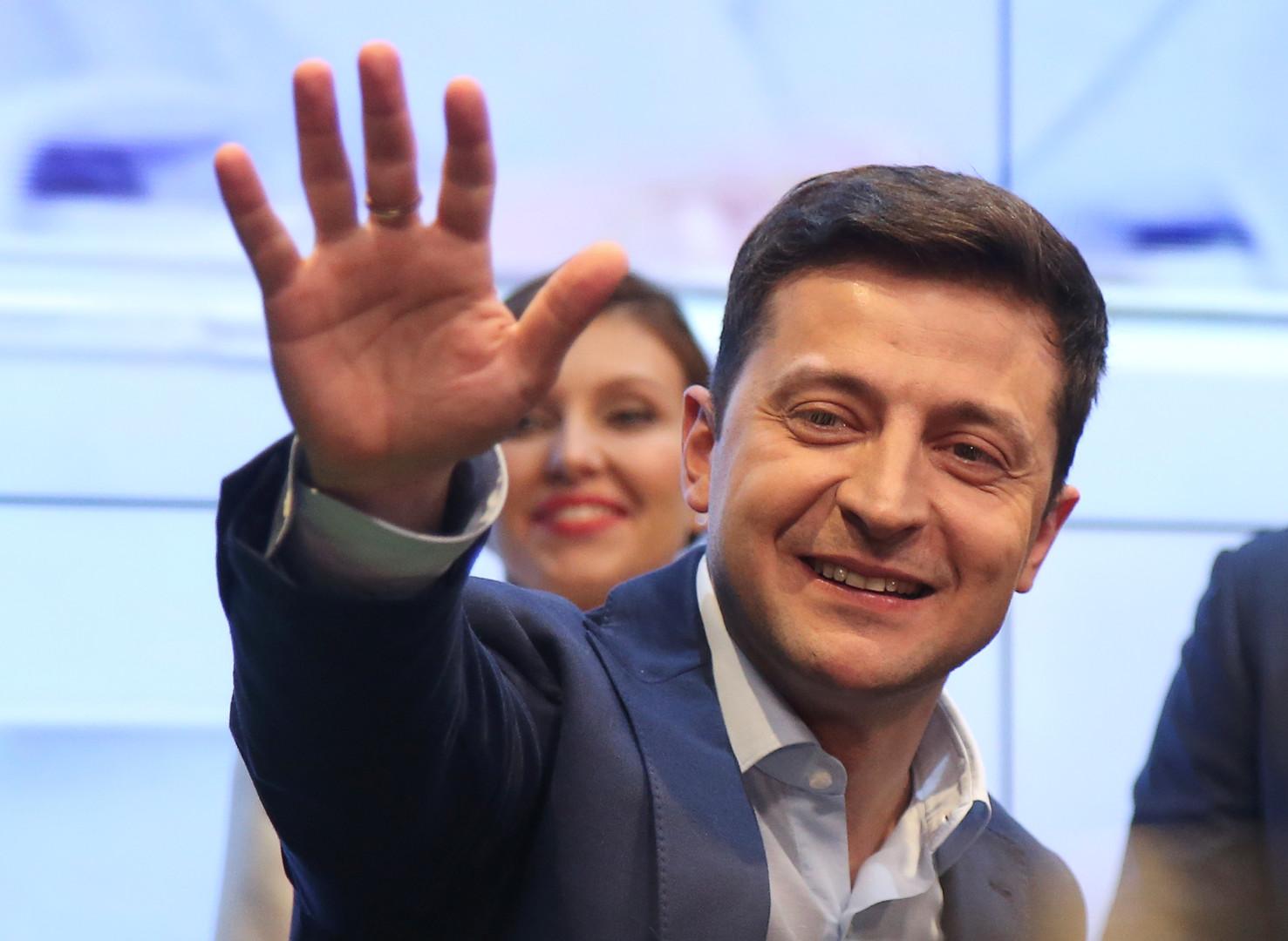 المرشح الفائز في انتخابات الرئاسة الأوكرانية، فلاديري زيلينسكي
