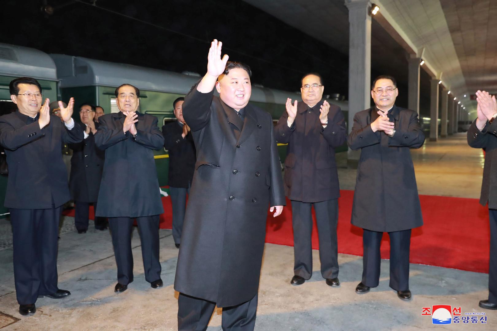 زعيم كوريا الشمالية، كيم جونغ أون، يستعد للتوجه إلى روسيا (ليلة 24 إلى 25 أبريل 2019)
