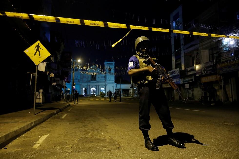عنصر أمن في سريلانكا