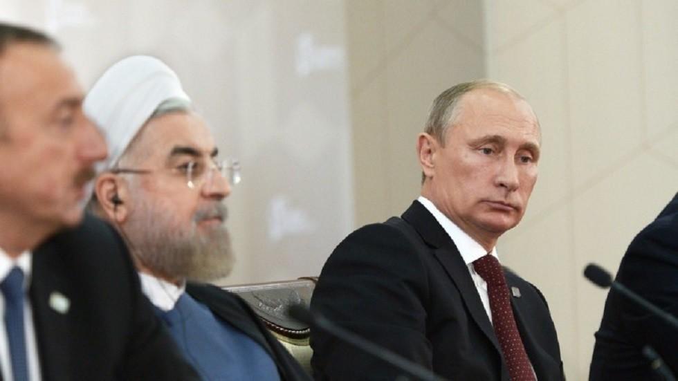 صورة ارشيفية لرؤساء روسيا وايران واذربيجان