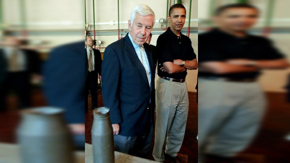 ريتشارد لوغار مع الرئيس الأمريكي سابقا باراك أوباما