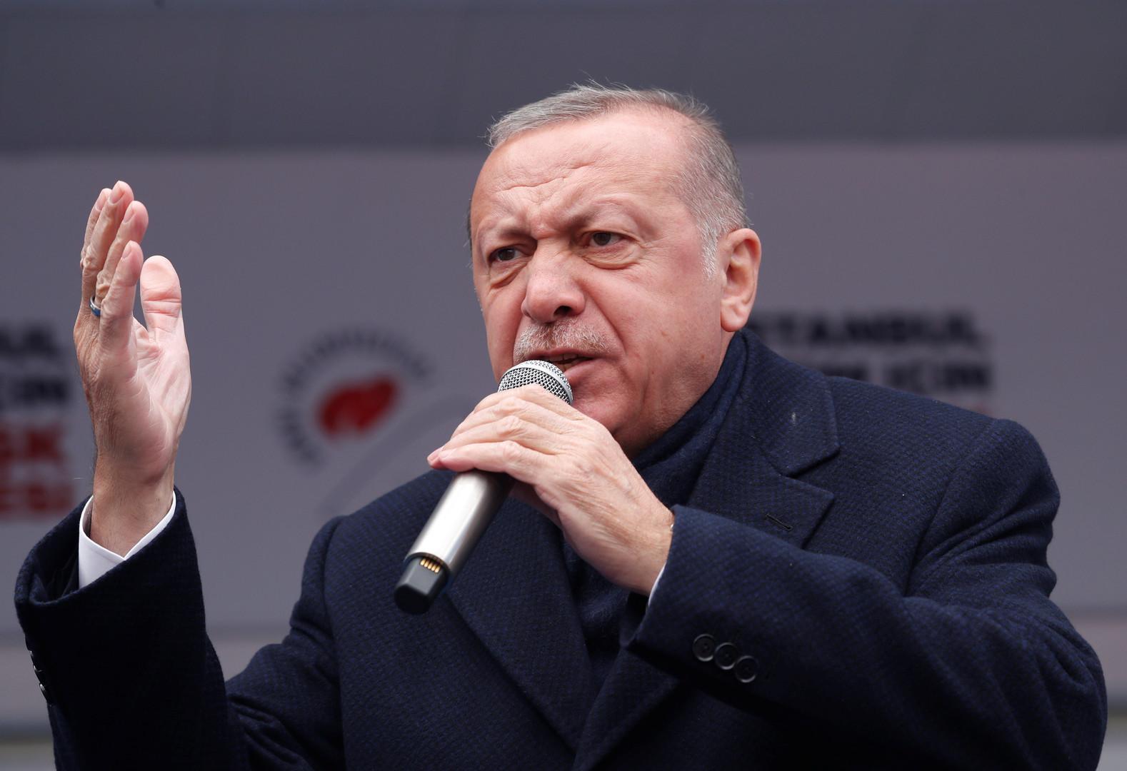 الحكومة الليبية المؤقتة ترد على أردوغان
