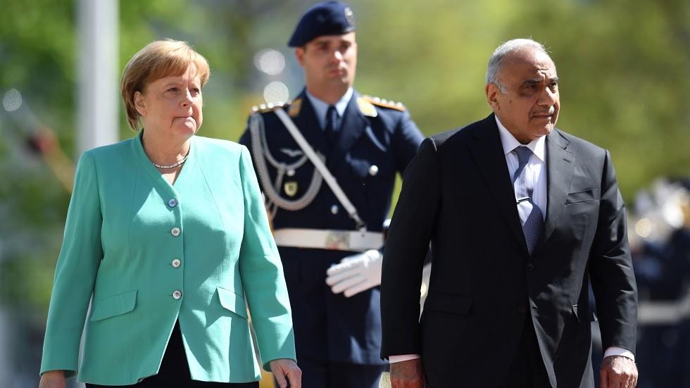 رئيس الوزراء العراقي عادل عبد المهدي والمستشارة الألمانية أنغيلا ميركل