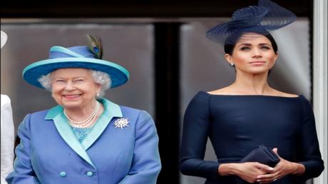 ملكة بريطانيا وميغان ماركل