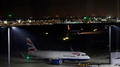 video: a huge explosion shaking the perimeter of heathrow airport in the british capital london