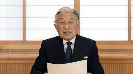 Trump expresses his gratitude to the Japanese Emperor Akihito, who is descending from the throne today