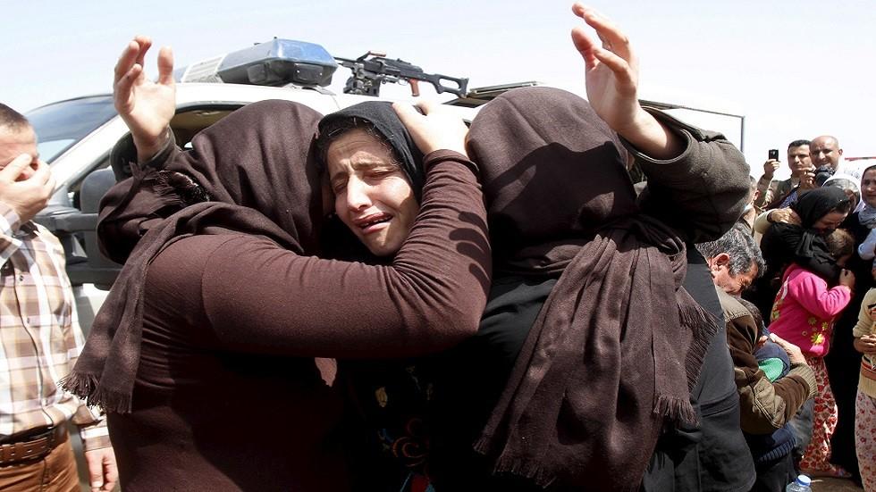 إيزيديات محررات من أسر داعش (صورة أرشيفية)
