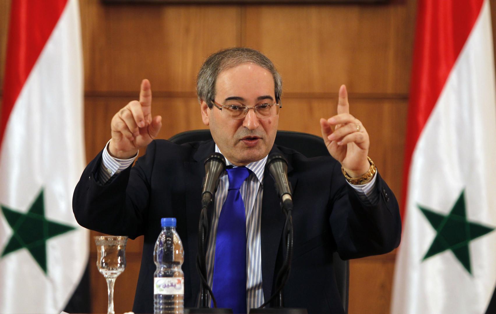 نائب وزير الخارجية السوري، فيصل المقداد
