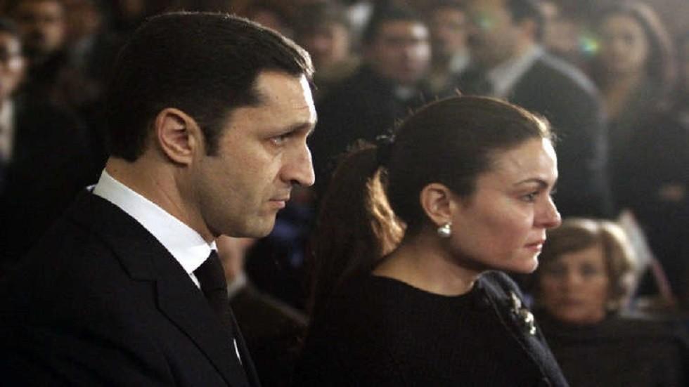 علاء مبارك وزوجته - أرشيف -