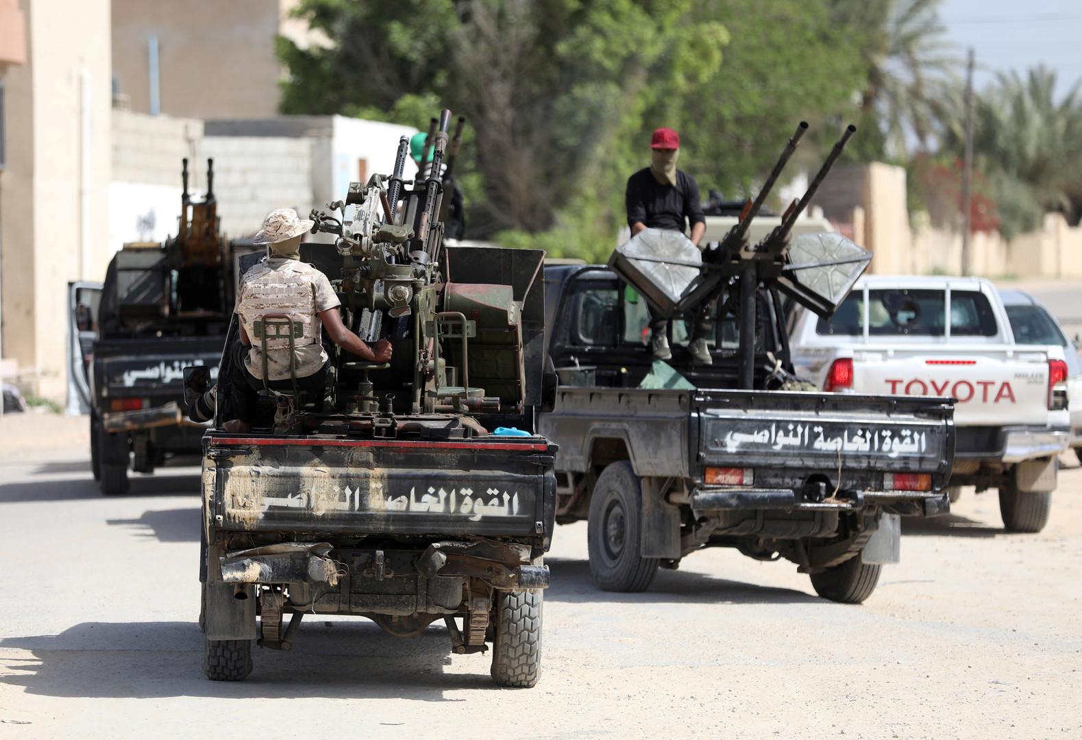 عناصر من القوات الموالية لحكومة الوفاق الوطني الليبية في طرابلس