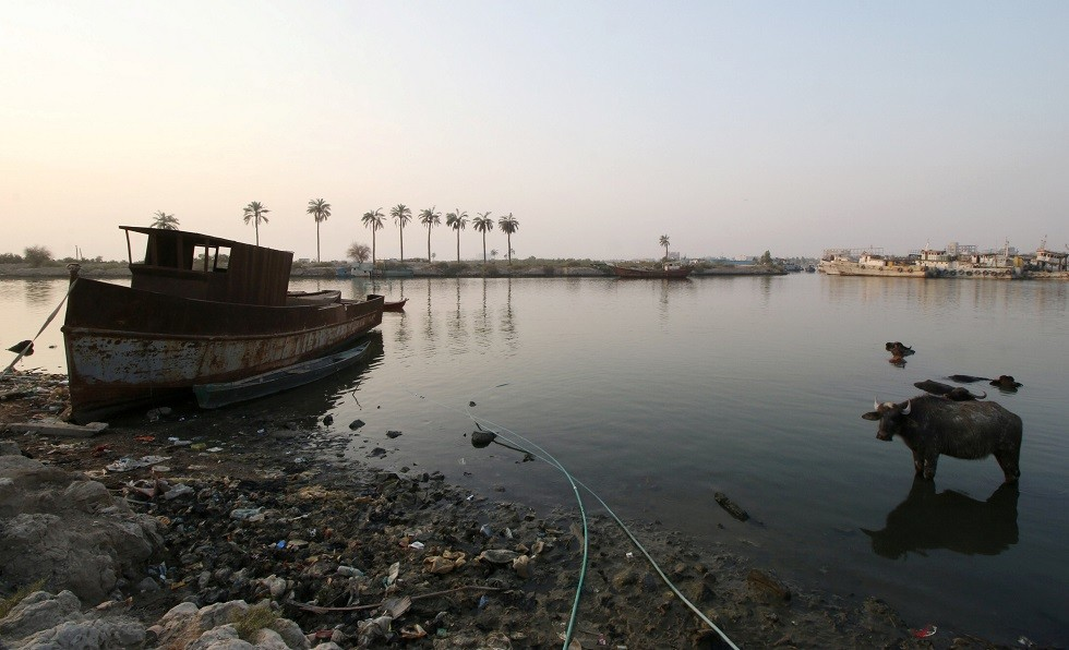 شط العرب، منطقة التنومة، شرق البصرة، العراق، 21 سبتمبر 2018