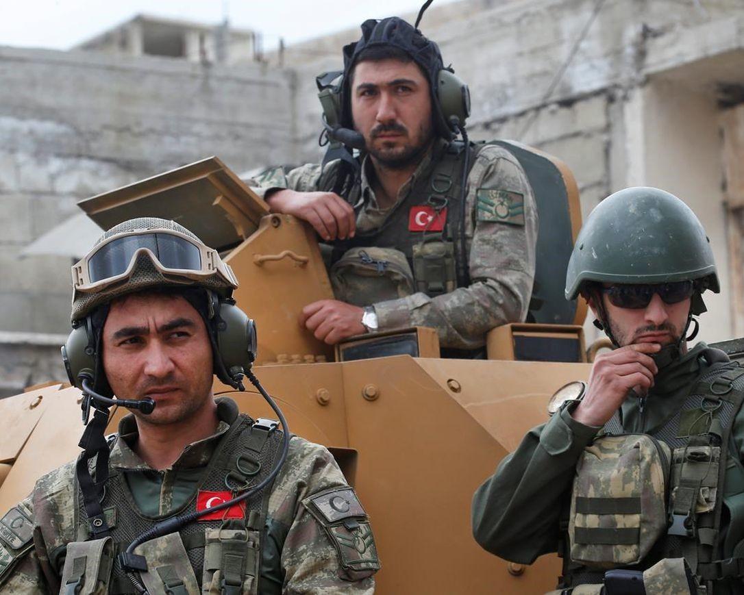 جنود أتراك في مدينة عفرين السورية - أرشيف