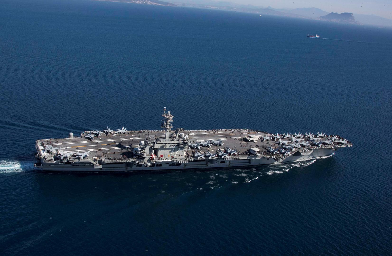 واشنطن ترسل حاملة طائرات ومجموعة سفن ضاربة إلى الخليج لردع إيران