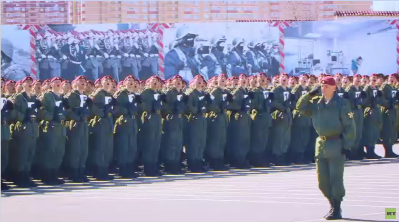تدريب فرقة دزيرجينسكي لاستعراض عيد النصر