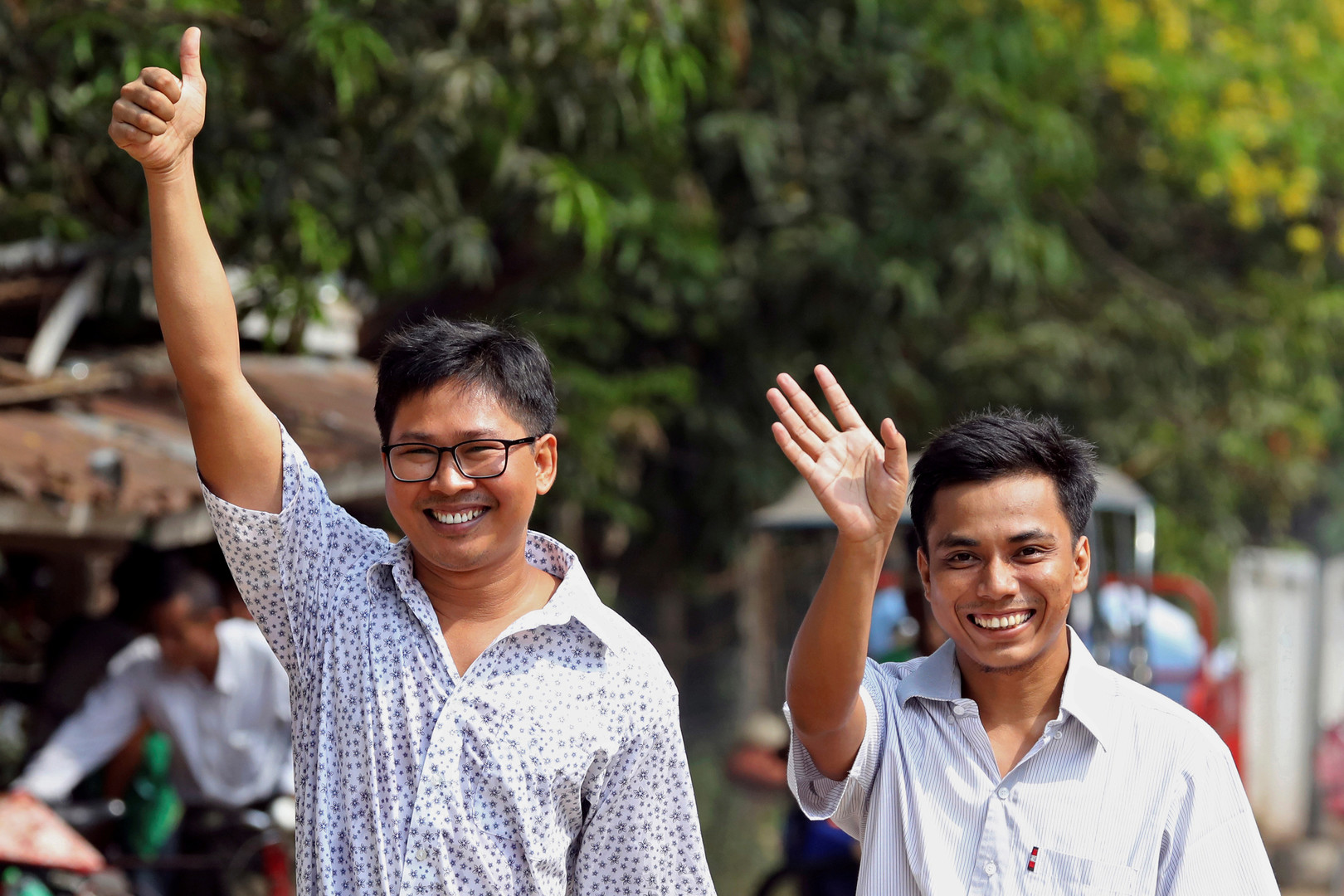 إطلاق سراح صحفيي