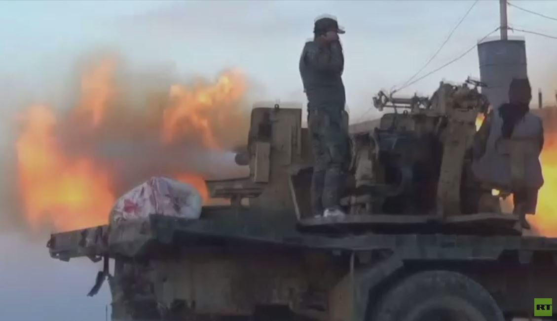 لحظة دخول الجيش السوري بلدةكفر نبودة