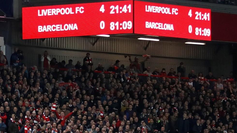 ليفربول يخسر 5 ملايين إسترليني بعد الرباعية في شباك برشلونة