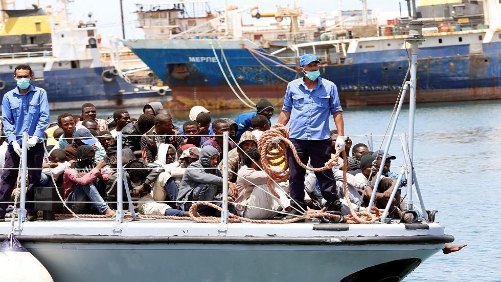 إنقاذ مهاجرين غير شرعيين في ليبيا (صورة أرشيفية)