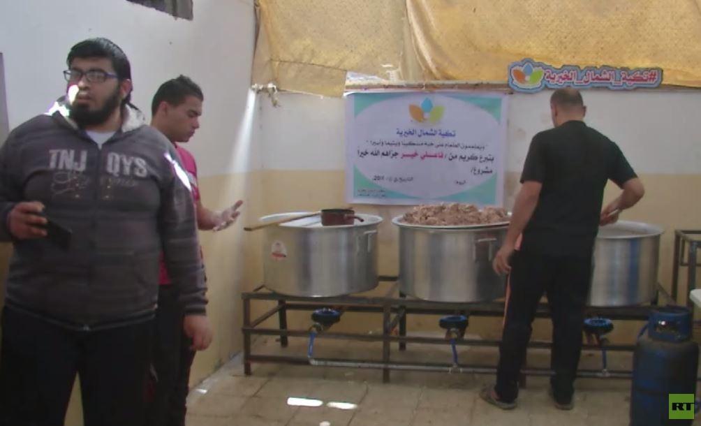تكية الشمال.. المساعدات تصل لفقراء غزة -