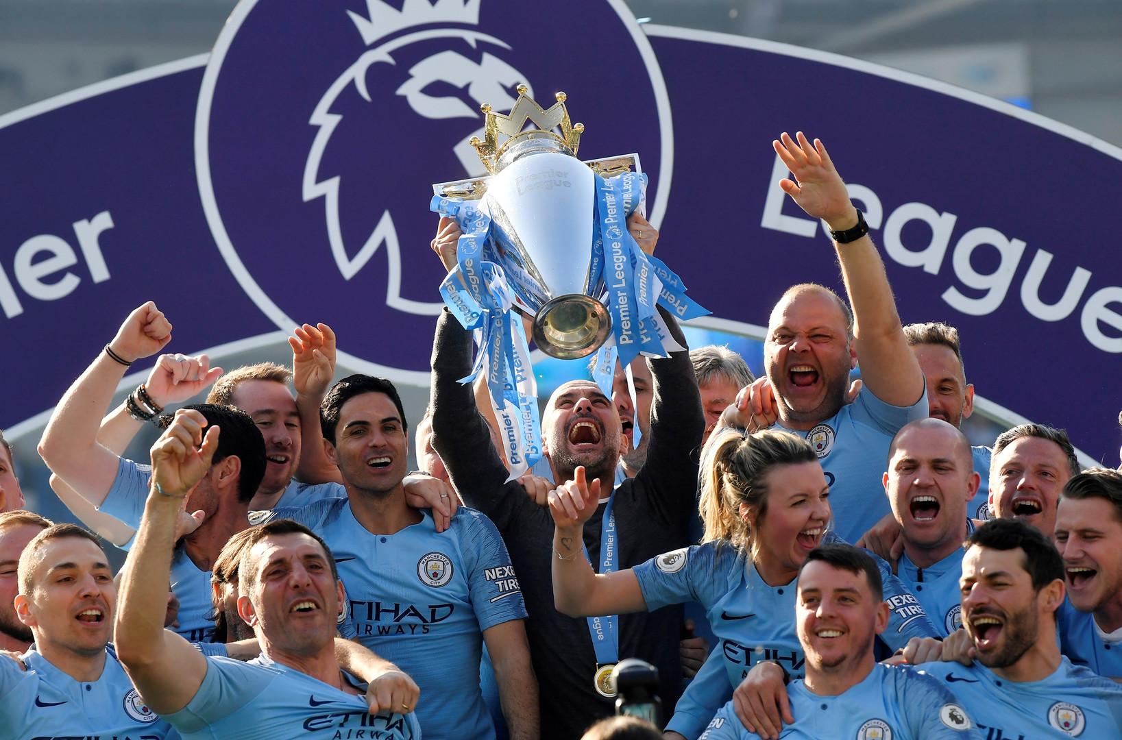 مانشستر سيتي بطلا للدوري الإنجليزي للمرة الثانية على التوالي - RT ...