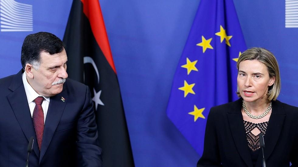 موغيريني تبحث مع السراج إيقاف القتال في ليبيا