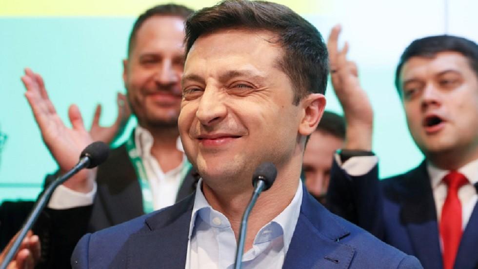 الرئيس الأوكراني المنتخب فلاديمير زيلينسكي