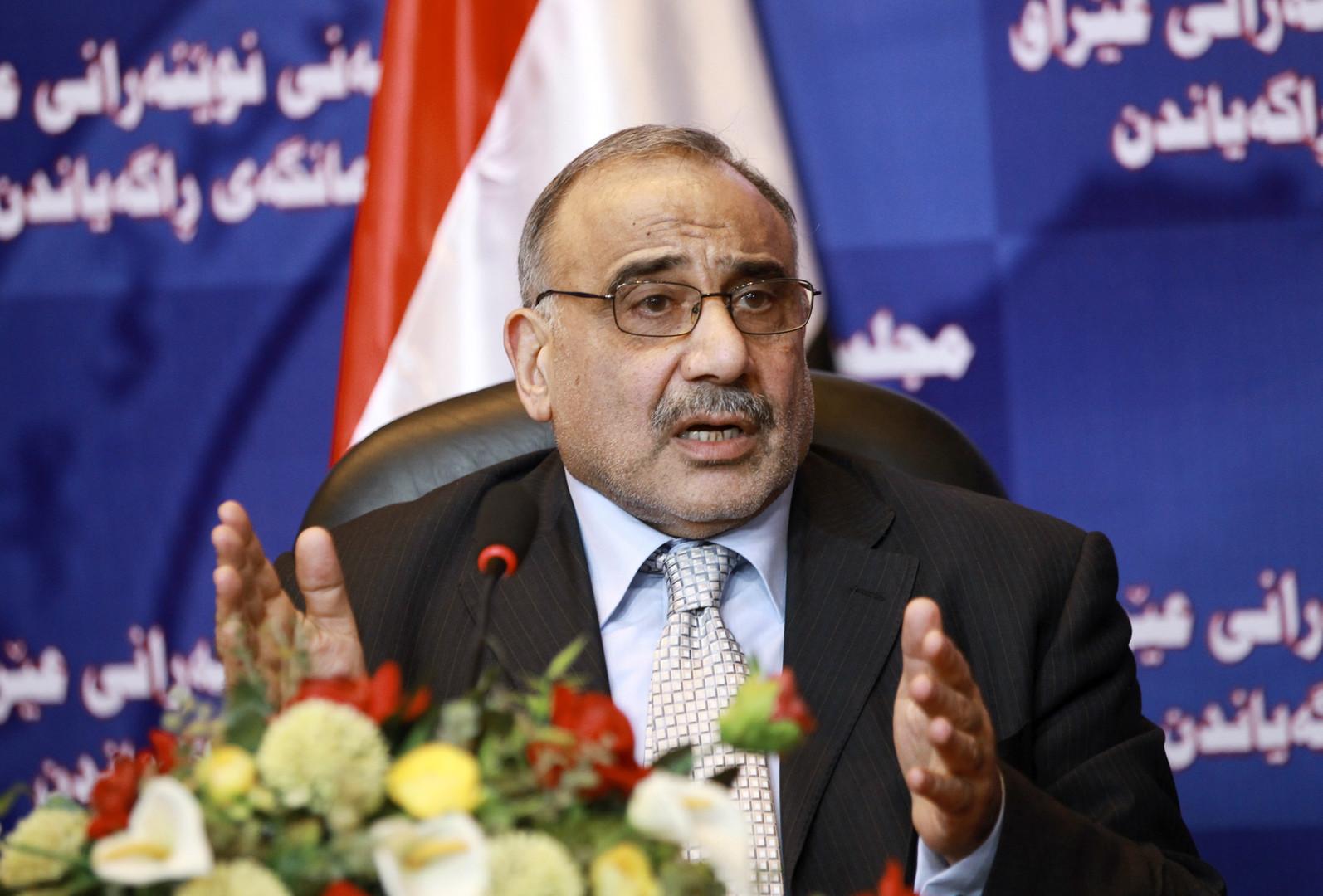 عبد المهدي: لا رغبة لدى واشنطن أو طهران بالحرب