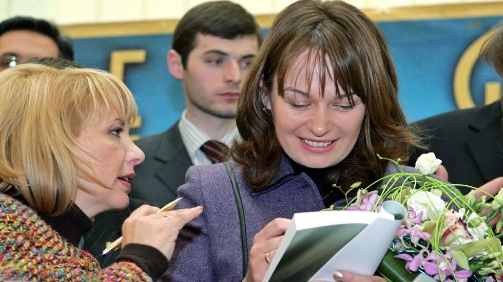 ساندرا رولوفس زوجة الرئيس الجورجي السابق ميخائيل سآكاشفيلي - أرشيف