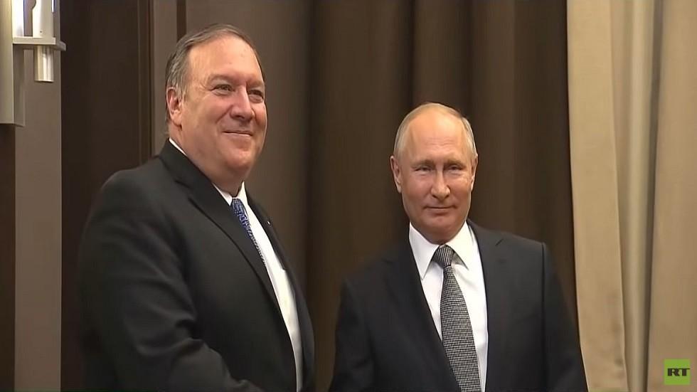 بومبيو يصف محادثاته مع بوتين حول سوريا بـ