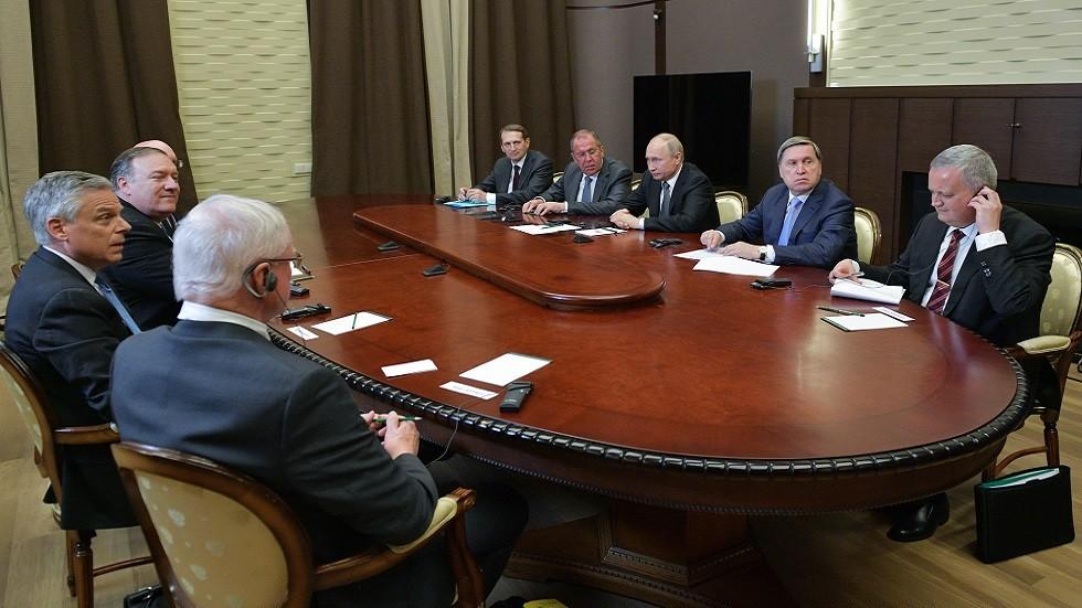 بومبيو يطلع ترامب على نتائج محادثاته مع بوتين ولافروف