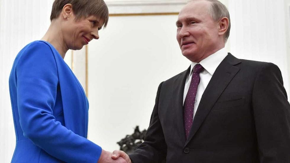 بوتين مستقبلا رئيسة إستونيا الشهر الماضي