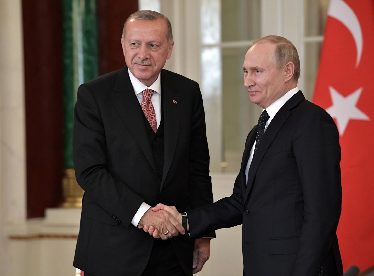 الرئيسان بوتين وأردوغان- صورة أرشيفية
