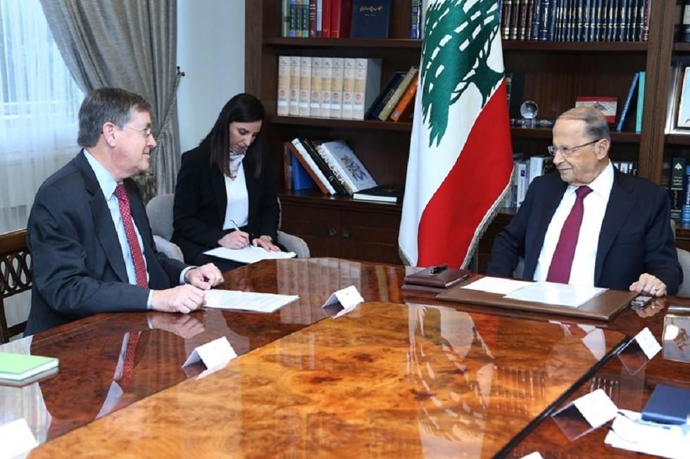 مسؤول أمريكي يبحث في بيروت حل الخلاف البحري مع إسرائيل وعون يؤكد تمسك لبنان بسيادته