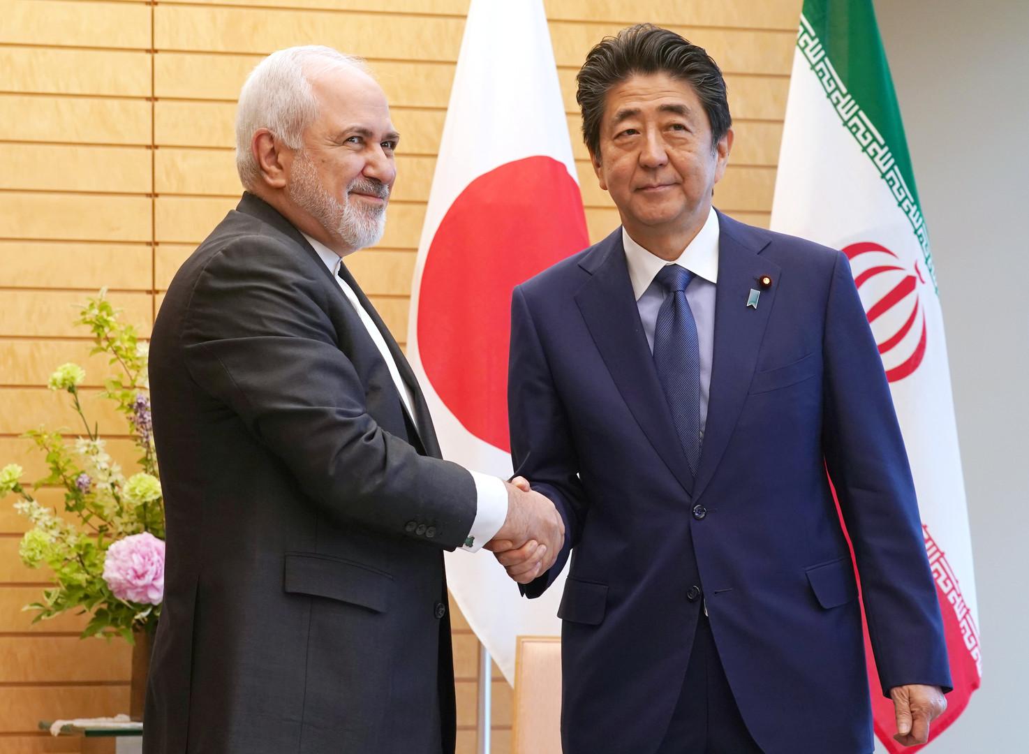 آبي لظريف: اليابان تود الحفاظ على علاقاتها الودية مع إيران