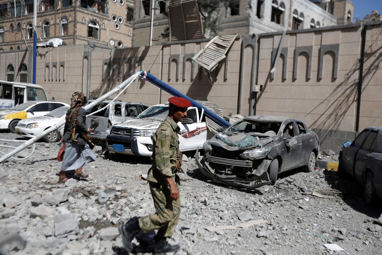 الحوثيون: قتلى وجرحى بغارات للتحالف العربي على صنعاء