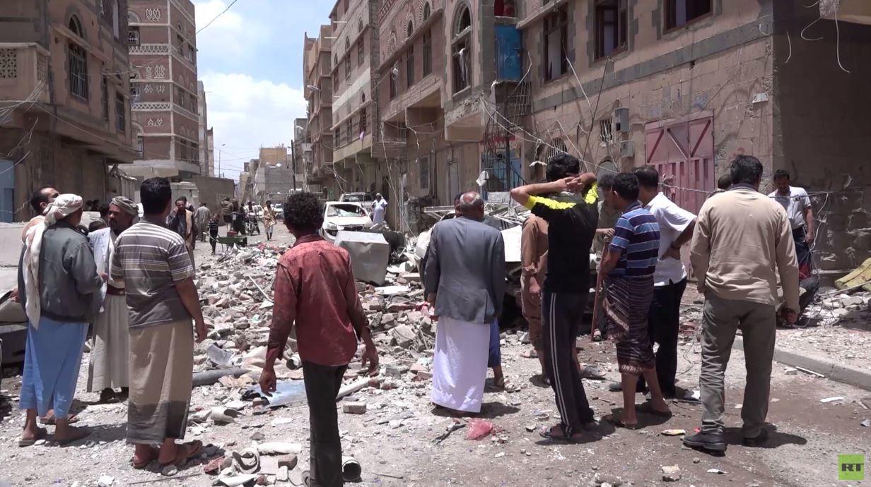 قتلى مدنيون بغارات للتحالف على صنعاء