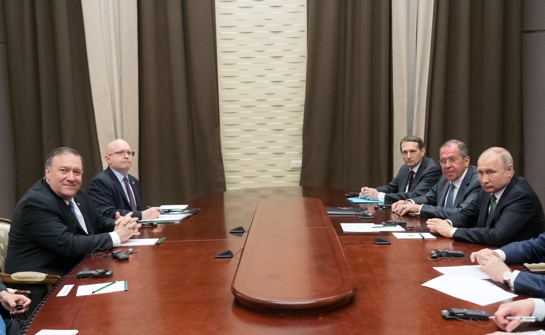 بومبيو: المحادثات مع الرئيس بوتين كانت جوهرية وناجحة