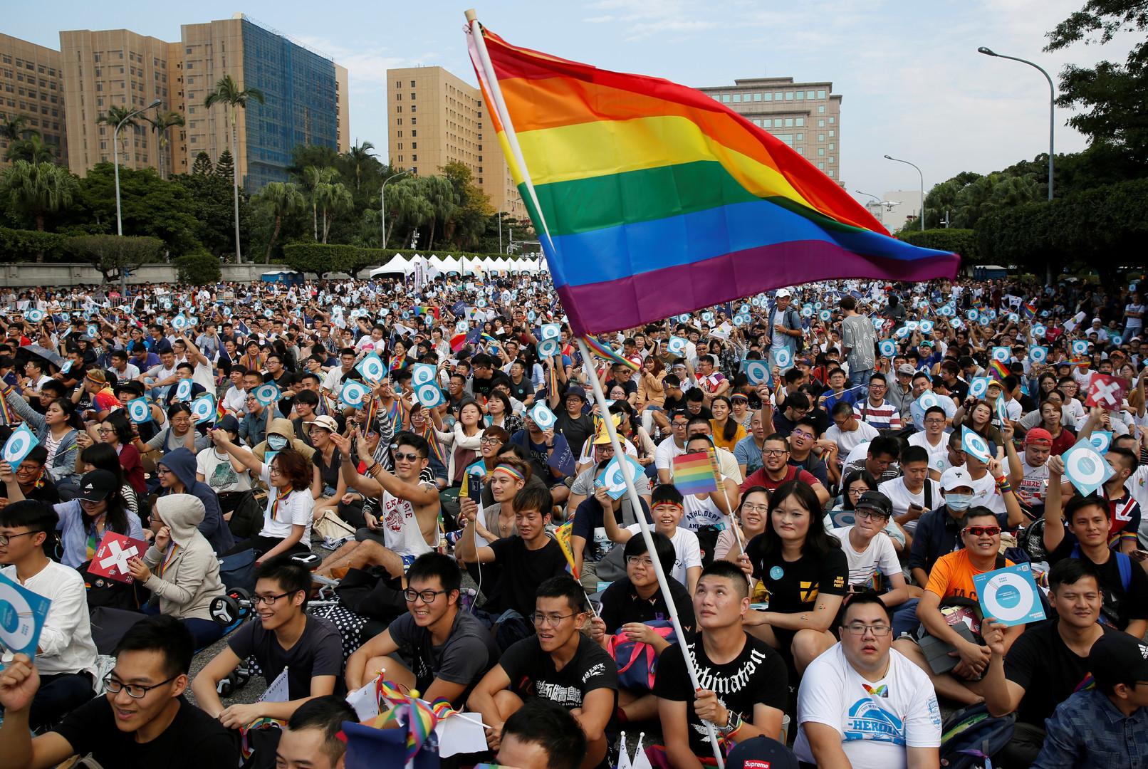 صورة أرشيفية من تظاهرات للمثليين في تايوان