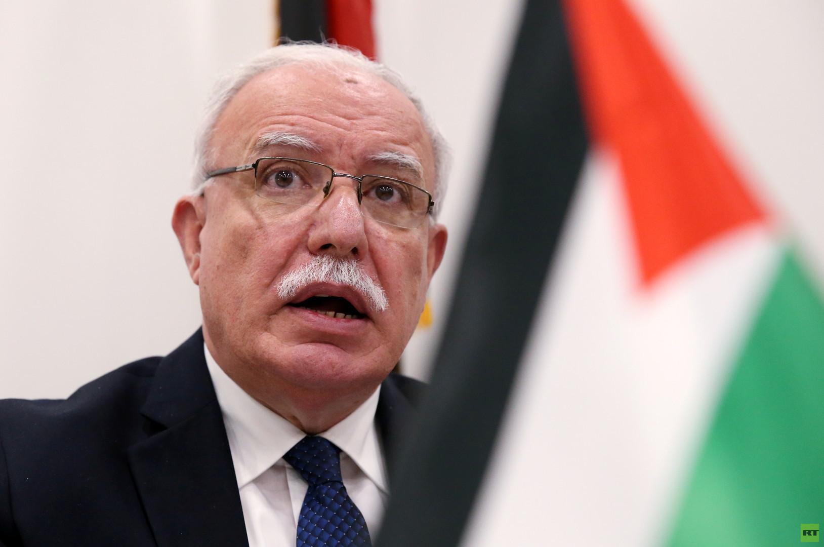 وزير الخارجية الفلسطيني: عباس مستعد للقاء نتنياهو في موسكو وترامب سائق متهور
