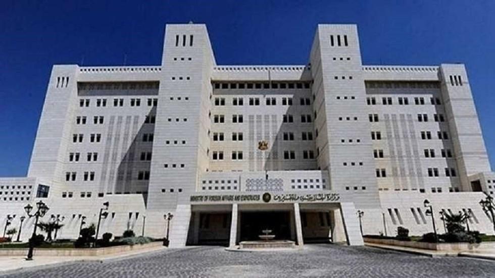 سوريا تؤكد أهمية ضمان حرية الملاحة للجميع في الخليج وتدعو الأطراف إلى ضبط النفس
