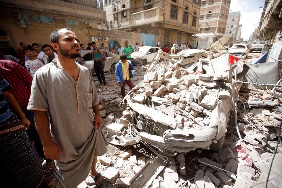 القصف الذي طال صنعاء يوم الخميس 16 مايو