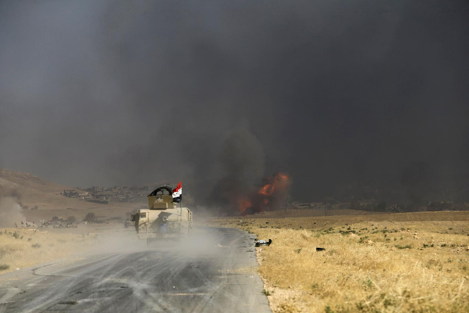 الجيش العراقي يقصف مضافات لـ