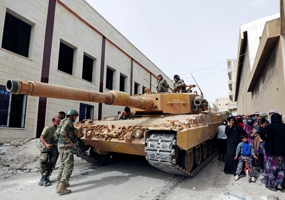 دبابة تركية في عفرين - أرشيف -