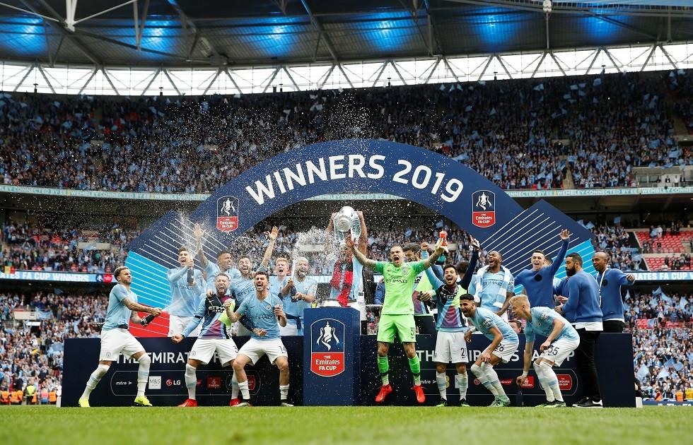 شاهد.. مانشستر سيتي يعانق كأس الاتحاد الإنجليزي
