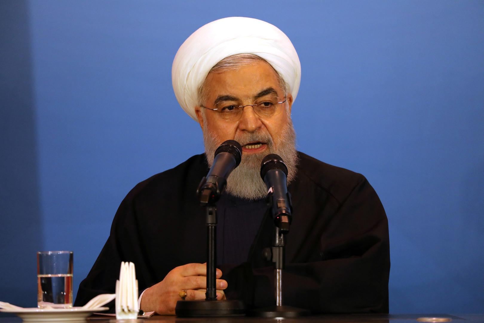 روحاني: لسنا جاهزين للتفاوض مع واشنطن في الظروف الراهنة ولن نستسلم أمام أي ترهيب