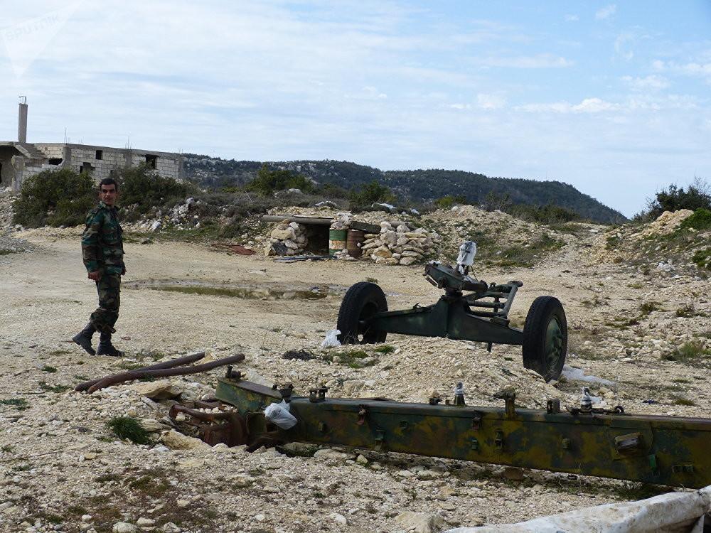 جندي سوري في ريف اللاذقية