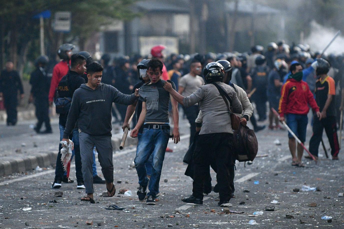 الاحتجاجات على نتائج الانتخابات الرئاسية في جاكارتا، إندونيسيا، 22 مايو 2019