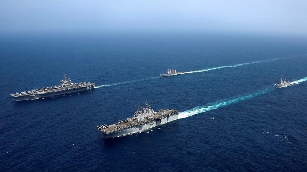 سفن حربية أمريكية، بحر العرب، 17 مايو 2019